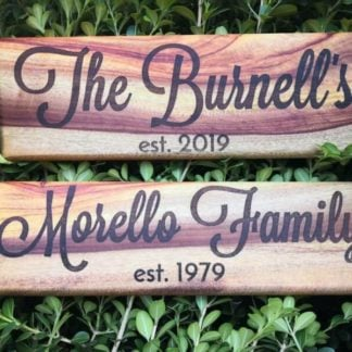Laser Engraved Timber Signs & Plaques